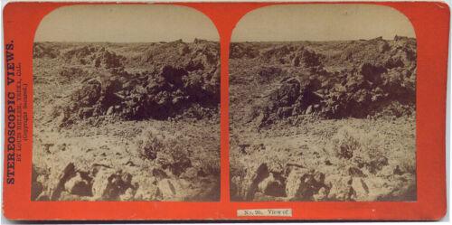 View No.20 Modoc War 1872-73 Series by Louis Hellen, Modoc Lava Beds