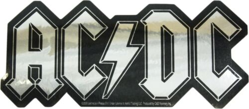 Sticker - AC/DC SILVER CHROME Logo ACDC AC-DC Angus Young Rock Decal Gift #15493