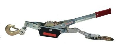 3 Ton Winch Come Along - 2 Hooks - Dual Ratchet Gear Heavy Duty Over 6000 Lbs