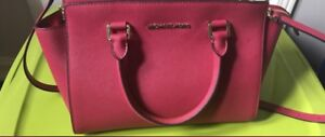 Authentic michael kors leather tote bag