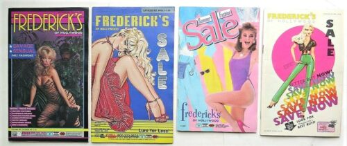 1970s/1980s  FREDERICKS OF HOLLYWOOD CATALOGS LOT OF 4 Shoes Lingerie Panties