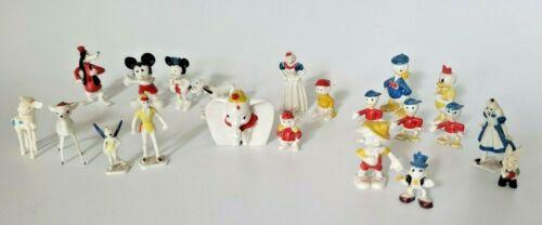 21 Vintage Walt Disney Productions Mini - Figurines Mickey Mouse Dumbo Dopey P1