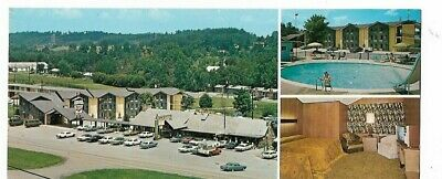 Shopping In Pigeon Forge (9a - 1970's LONG Postcard - GREEN VALLEY MOTEL & GIFT SHOP in PIGEON FORGE)