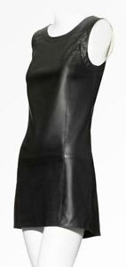 NWT THEYSKENS' THEORY Black Dhidas Leather Dress Black Size 6 $895