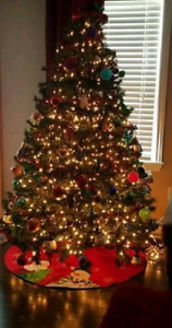 6.5 ft artificial Christmas tree (not prelit)