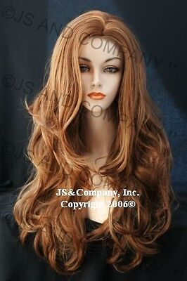 Luscious Layered extra long fox Strawberry Blonde and Ginger mix WIG WAAH - Ginger Wig