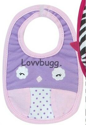 "Lovvbugg Bitty Bird Doll Bib for 15"" Bitty Baby n Twins Doll Clothes Accessory"