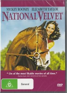 NATIONAL-VELVET-DVD-1944-New-Sealed-ALL-Region-Elizabeth-Taylor-Mickey-Rooney