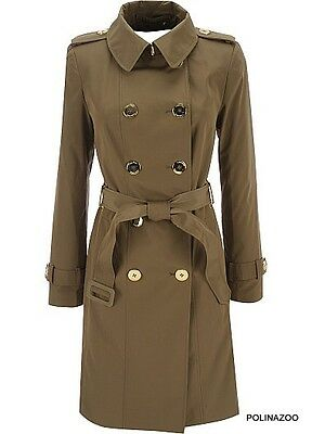 Calvin Klein Summer Coat Double breasted Trench Coat Brown $200 NEW XL size