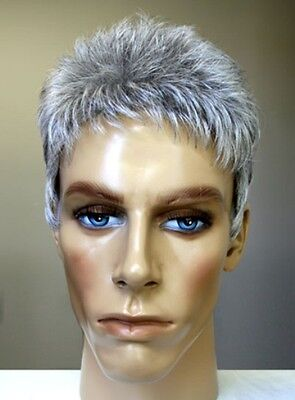 MENS MALE STRAIGHT SPIKY SHORT HAIR WIG DANNY HANDSOME DUDE COSTUME FULL WIG  (Costume Mens Wigs)