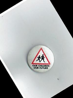 National Union of Teachers General Election badge tin trade union badge small
