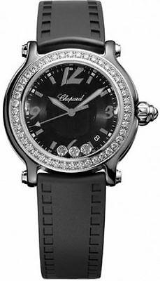 CHOPARD HAPPY SPORT DIAMOND BEZEL LADIES WATCH 28/8507-9003 NEW! $11,940 RETAIL!