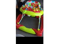 Baby walker/rocker and baby seat with tray,good condition