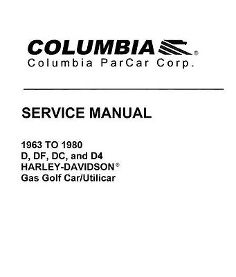 harley davidson gas electric golf cart service repair manual parts 63 - 03  + 1g