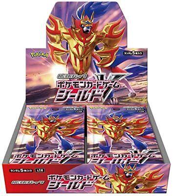 Japanese Pokemon Card Booster Box Shield V-MAX Limited Promo 30Packs Zamazenta