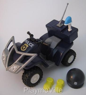 Playmobil Police pull back & go quad bike/beach patrol buggy NEW