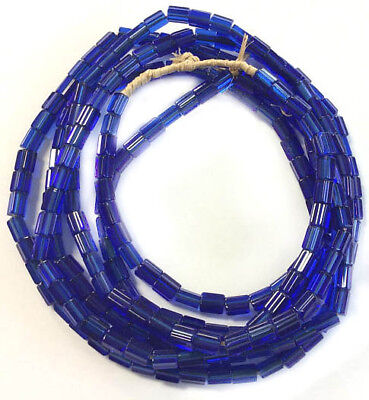 -  Fine Vintage Czech Crystal Russian blue Faceted Glass African Trade beads
