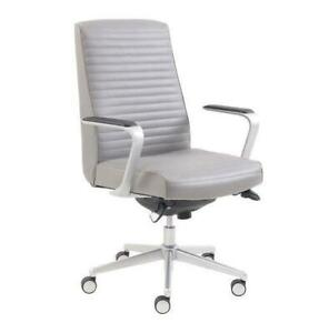 La-Z-Boy 50081B Furniture Ergonomic High-Back Bonded Leather Executive Chair - Grey  (open Box)