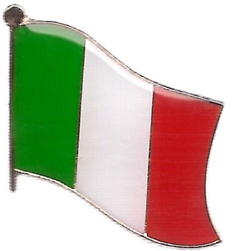 LOT OF 12 Italy Flag Lapel Pins - Italian Flag Pin