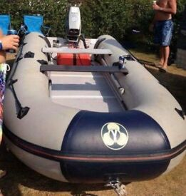 YAM 380s Inflatable boat with 15HP Suzuki DT15C Long Shaft Outboard Motor