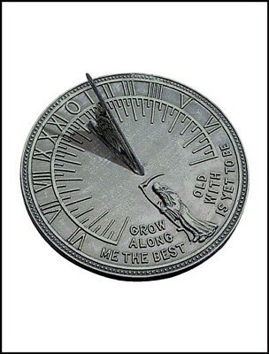 Rome Industries 2550 Cast Iron Father Time Sundial