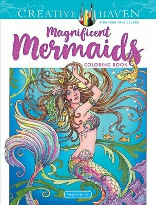 Creative Haven Magnificent Mermaids Coloring Book, Paperback by Sarnat, Marjo...