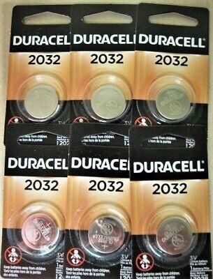 6 Pack Duracell 3V DL2032 / CR2032 Lithium Battery Fresh Dated 2028 comprar usado  Enviando para Brazil