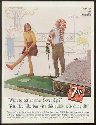 1961 putt-putt miniature golf photo 7UP 7-UP vintage print ad