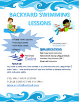 Private Backyard Swimming Lessons