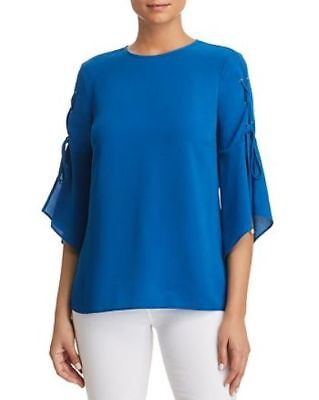 MICHAEL Michael Kors Lace-Up-Sleeve Top MSRP $88 Size L # 5/3А 431 NEW