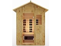3 Man Outdoor Infrared Sauna - BRAND NEW - Bamboo Garden Sauna