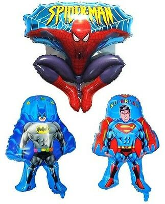 NEW 3 BATMAN SUPERMAN SPIDERMAN MYLAR FOIL BALLOON BIRTHDAY PARTY HELIUM - Superman Balloon