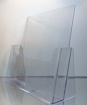 12-pack Of Clear Acrylic 8.5 X 11 Countertop Brochuremagazine Holder Displays
