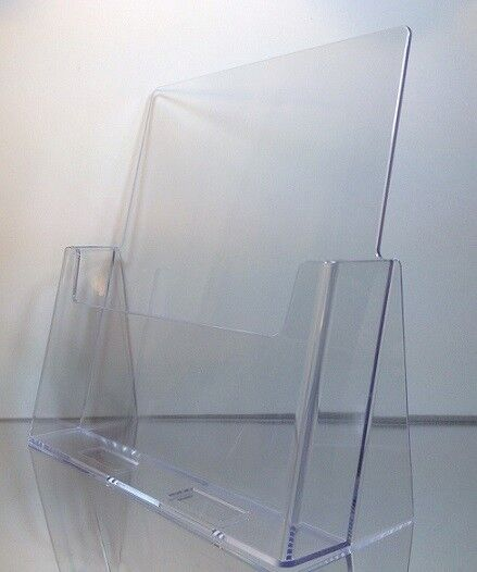"""6-pack of Clear Acrylic 8.5"""" x 11"""" Countertop Brochure/Magazine Holder Displays"""