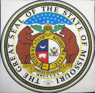 Missouri State Seal (MISSOURI STATE SEAL - Display your travels! - Printed Patch - Sew On - Bag, Hat)
