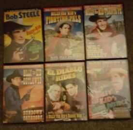 6 WESTERN DVD's all from the 1930s