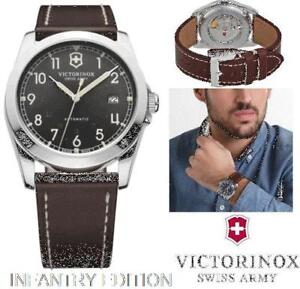 VICTORINOX SWISS ARMY MEN'S INFANTRY SWISS LEATHER WATCH