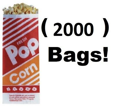 2000 Count Gold Medal 2053 1 Oz. 3 3-12 X 2-14 X 8 Popcorn Bags
