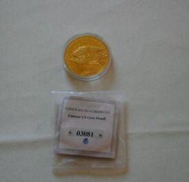 Authentic Replica US Golden Eagle Coin 2003