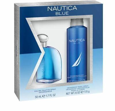 Nautica Blue 1.7 OZ  Eau De Toilette & Deodorizing body Spray Gift Set 2 Pieces.