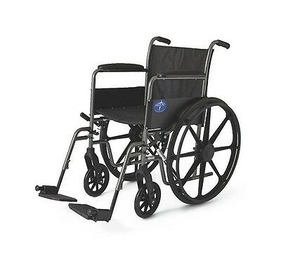 "18"" Medline K1 Lightweight Folding Manual Wheelchair"