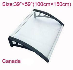 """60""""W×40""""L(150cm×100cm) Polycarbonate Awning for Window & Door House canopy UV protected  ITEM NUMBER 190205"""