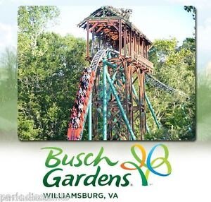 20 promo off busch gardens williamsburg virginia water Busch gardens williamsburg discount tickets