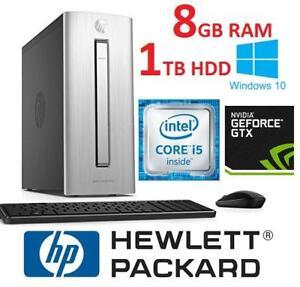 REFURB HP ENVY DESKTOP TOWER PC 750-229 139935769 COMPUTER I5 6400 8GB RAM 1TB HDD WIN 10 OS