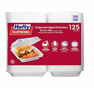 Members Mark One-compartment Hinged Lid Container By Hefty 125 Ct.