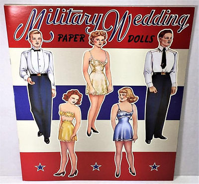 MILITARY WEDDING Paper Doll Book PRISITINE CONDITION Shackman Company