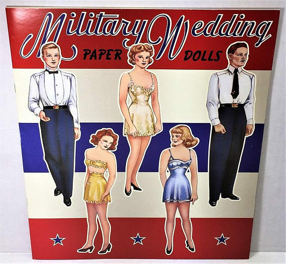 Wacs and Waves Paper Doll Book  Shackman