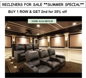 theater chairs ,recliners , gaming chairs Summer special sale
