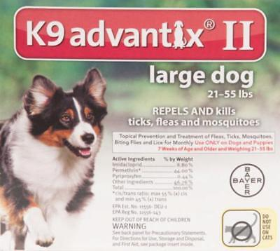 K9 Advantix II for Large Dogs 21-55 lbs. Six Month Supply, 6 Doses, 6 Pack for sale  Ormond Beach