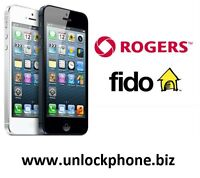 Unlock your Rogers/Fido iPhone 4/4S/5/5C/5S/6/6+ for $25